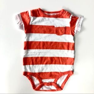 Carters striped onesie like new